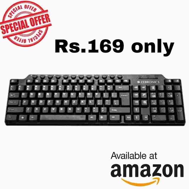 Amazon.in: Buy Zebronics Km2100 Multimedia USB Keyboard at Rs.169