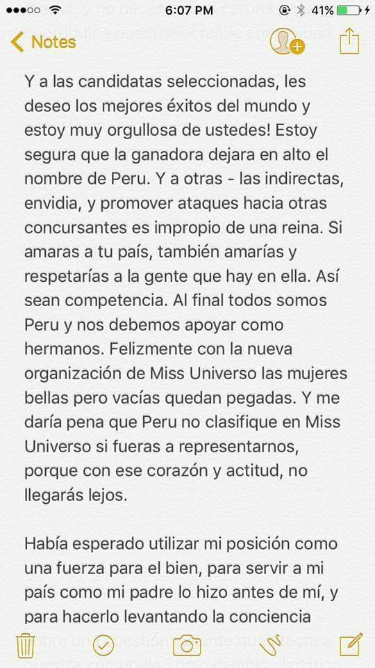 """Una de las favoritas le dice """"No"""" al Miss Perú 2017  19756848_502820903395885_7658674973496821755_n"""