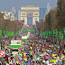 The 40th Paris Marathon in France