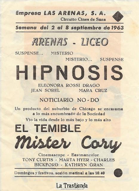 El Temible Mister Cory - Programa de Cine - Tony Curtis - Martha Hyer