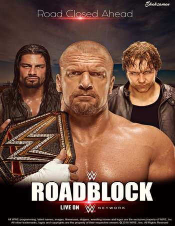 Poster Of WWE Roadblock 13th March 2016 500MB PPV HDTV 480p Free Download Watch Online