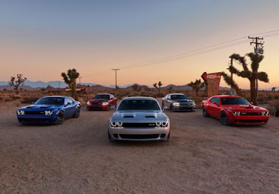 Selected submodels from the 2019 Dodge Challenger & Charger lineup.