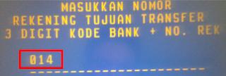 kode transfer bank bca