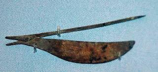 Ψαλίδι κατασκευασμένο από κράμα χαλκού (1750-1500 π.Χ.)