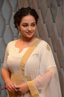 Actress Nithya Menen Pictures at 100 Days of Love Pre Release Press Meet 0107
