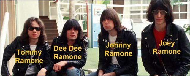 Nombres Artísticos de los Miembros de la Banda Ramones