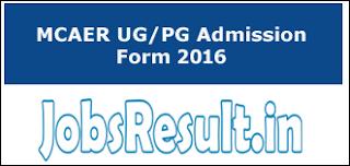 MCAER UG PG Admission Form 2016