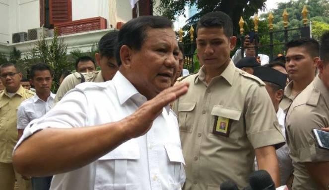 Prabowo Ogah Bahas Ridwan Kamil di Pilgub Jabar