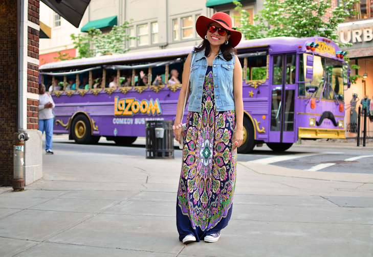 Maxi Dress With Sneakers
