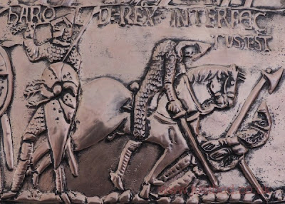 Death of Harold - sculpted copper plaque by bod