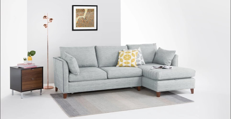 Grey Corner Sofa Beds with storage