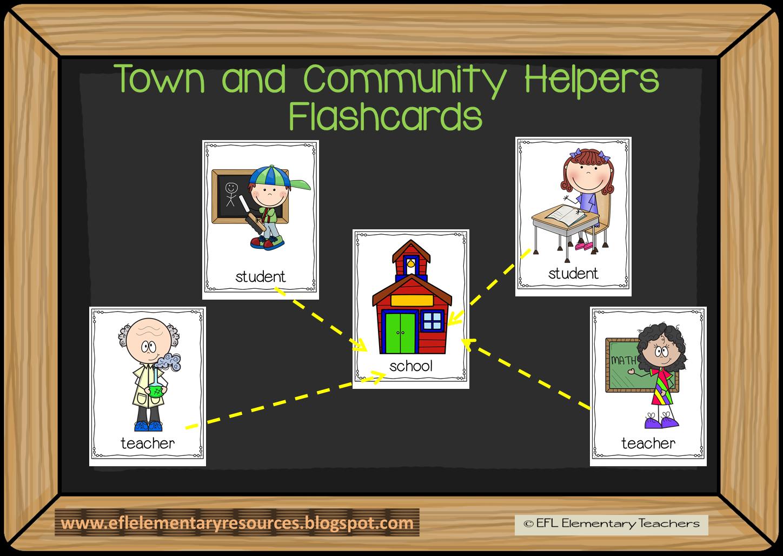 Efl Elementary Teachers Town And Community Helpers Plus