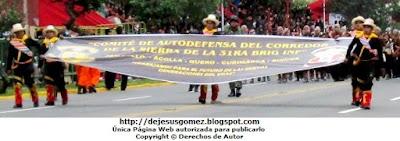 Fotos del Comité de Autodefensa del Corredor de la Sierra con su pancarta por Jesus Gómez