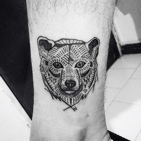 geometric bear tattoo tumblr