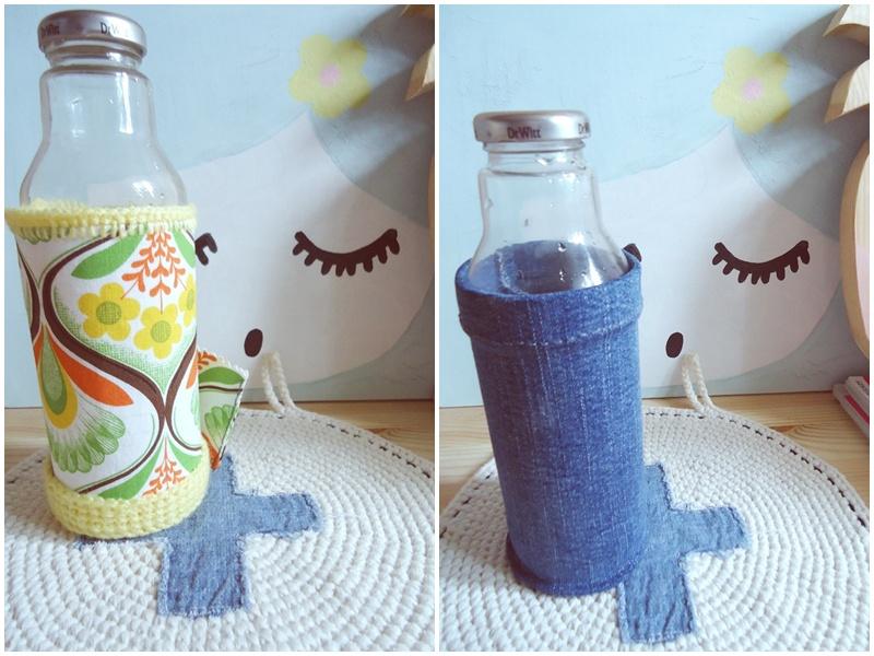 pomysł na bidon dla zero wastera, szklana butelka na wodę zamiast bidonu
