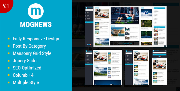 Mognews Template for Blogger