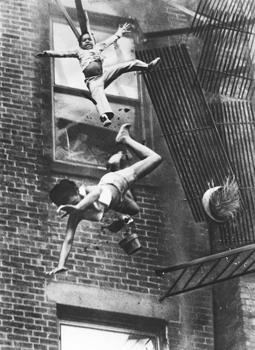 #10 Fire Escape Collapse, Stanley Forman, 1975 - Top 100 Of The Most Influential Photos Of All Time
