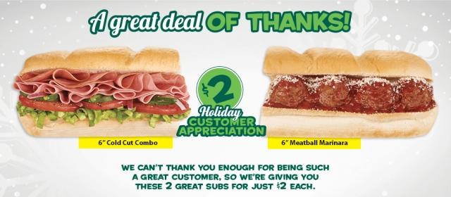 Subway 6 inch price