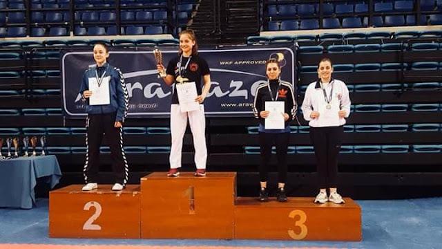 Χρυσό μετάλλιο η Θεσπρωτή Μαρία Στόλη στο πανελλήνιο πρωτάθλημα Καράτε (+ΒΙΝΤΕΟ)