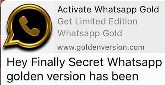 Whatsapp Gold Edition Golpe hack