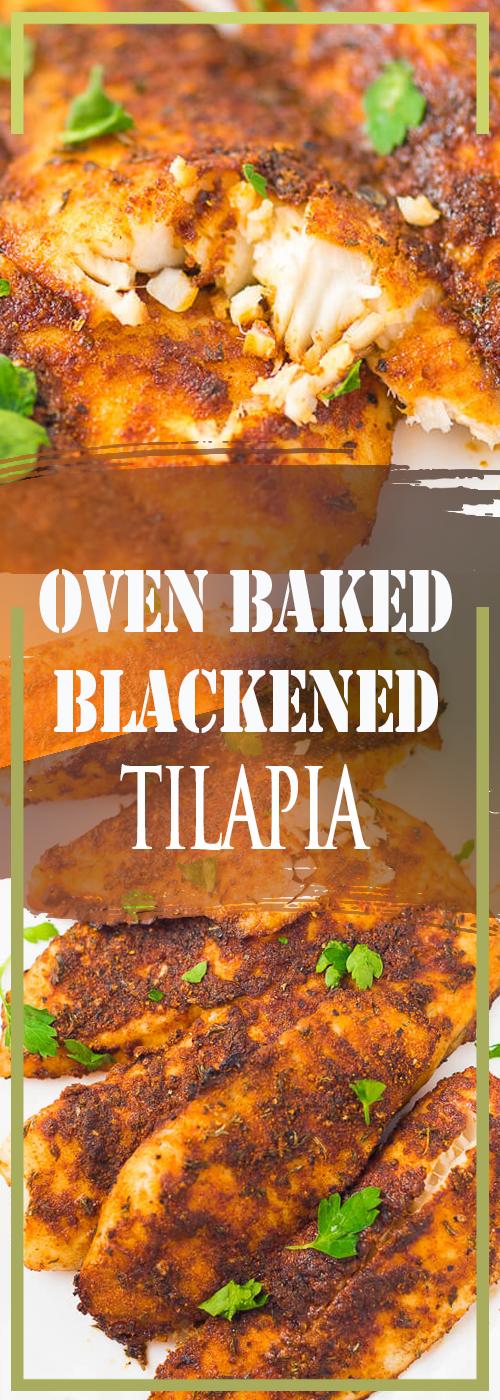 OVEN BAKED BLACKENED TILAPIA RECIPE