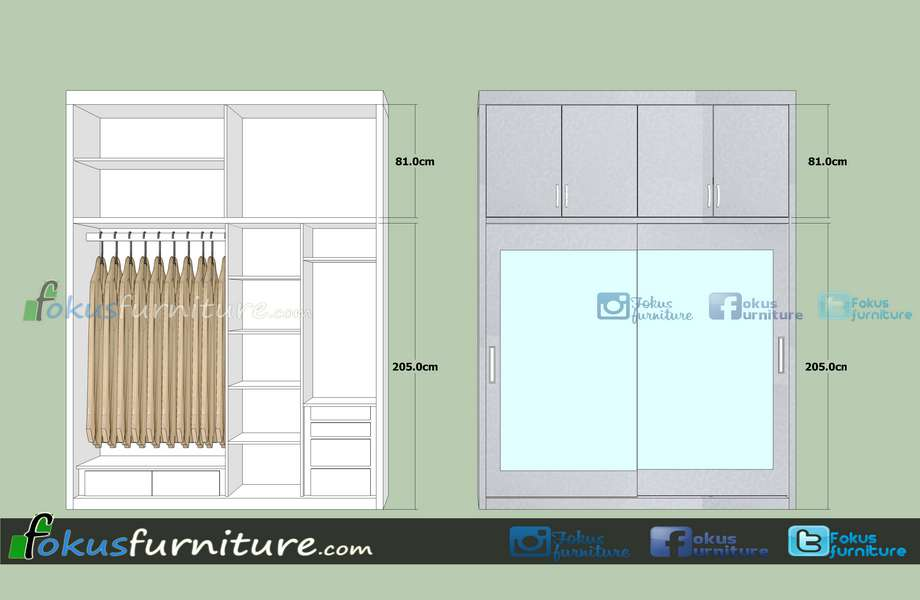 Ukuran Lemari Pakaian FurnitureKitchen Set Minimalis