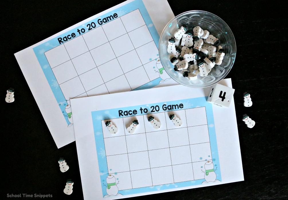 preschool grid game