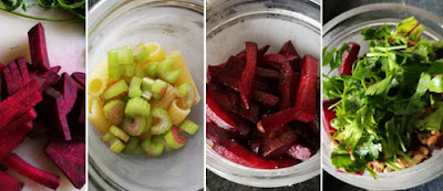 Zubereitung Nudelsalat mit roter Bete, Walnüssen und Gorgonzola-Joghurt-Dressing