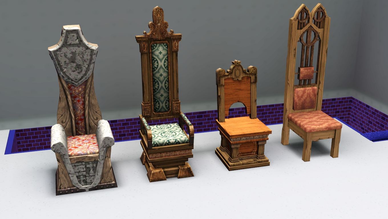Medieval Dining Chairs Wooden Church With Arms My Sims 3 Blog Living And By