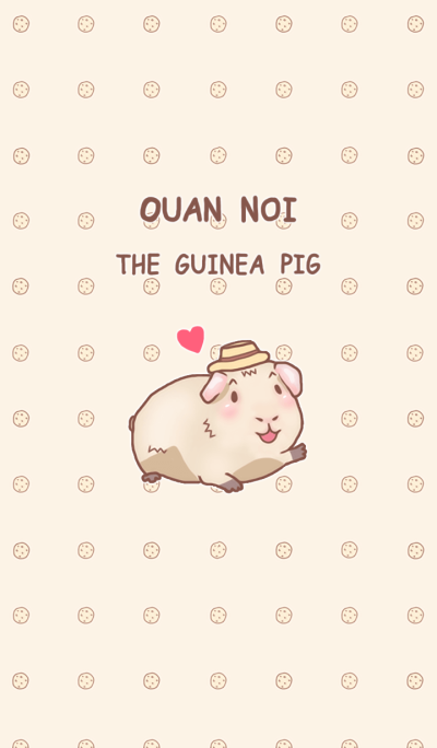 Ouan Noi The Guinea Pig Pink Pastel