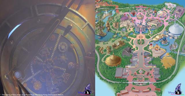 hong kong disneyland map, The Nightmare Experiment, Hong Kong Disneyland, 2016 Halloween, 香港迪士尼樂園, Halloween Time, 反轉迪士尼, 詭夢實驗室, 大街詭異酒店, Main Street Haunted Hotel