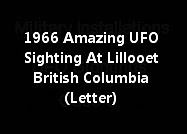 1966 Amazing UFO Sighting At Lillooet British Columbia (Letter)