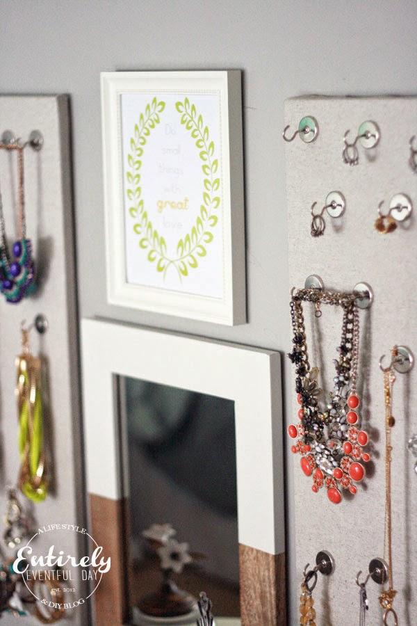 Diy Magnetic Jewelry Board Organizer Entirely Eventful Day