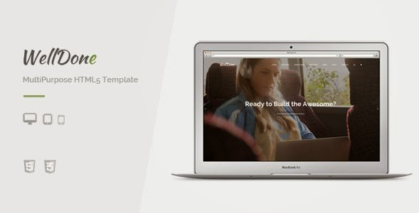 WellDone - Multipurpose HTML5 Template
