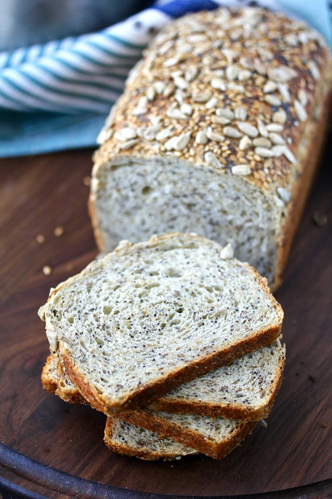 Multi-seed and grain honey bread