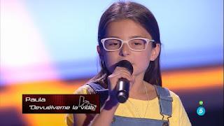 Paula: Devuélveme la vida de Antonio Orozco la voz kids
