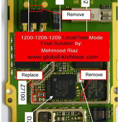 Cell Firmware: Nokia 1208 Local Mode Test Mode Problem