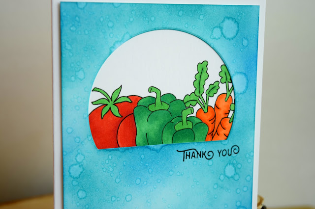 Vegetable Thank You Card by Jess Gerstner for Newton's Nook Designs