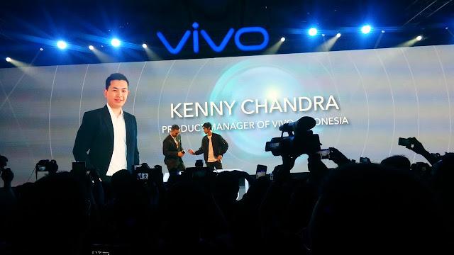 Kenny Chandra dan Al Ghazali di acara Acara Vivo V5s Launch