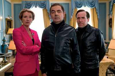 Johnny English Strikes Again 2018 movie still Rowan Atkinson Ben Miller Emma Thompson
