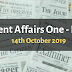 Current Affairs One-Liner: 14th October 2019