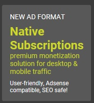Formato Native Subscriptions PropellerAds