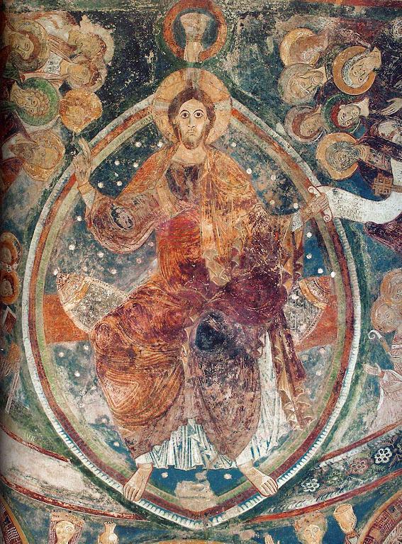 A vinda de Cristo em majestade ocupava lugar central na cosmovisão de Cluny.  Berzé-la-Ville, capela dos monges, inspirada na grande igreja de Cluny III