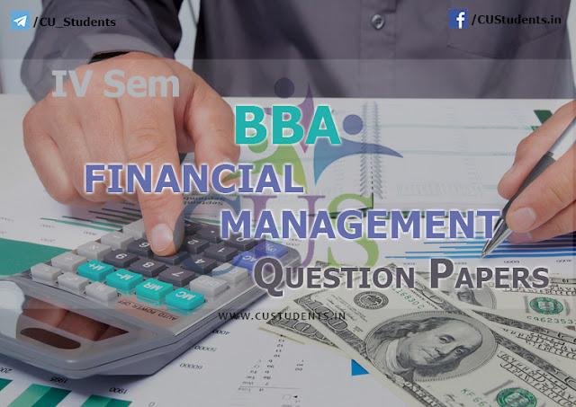 BBA - Financial Management - Previous Question Papers