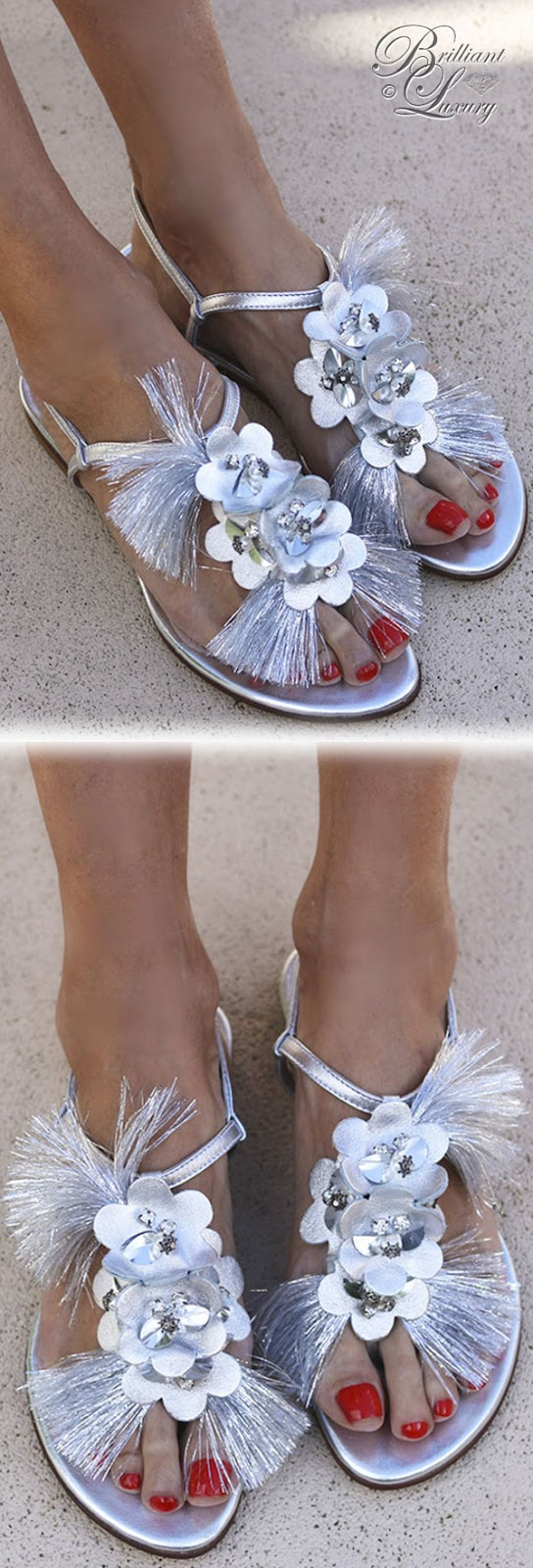 Brilliant Luxury ♦ Alameda Turquesa Lily sandals silver