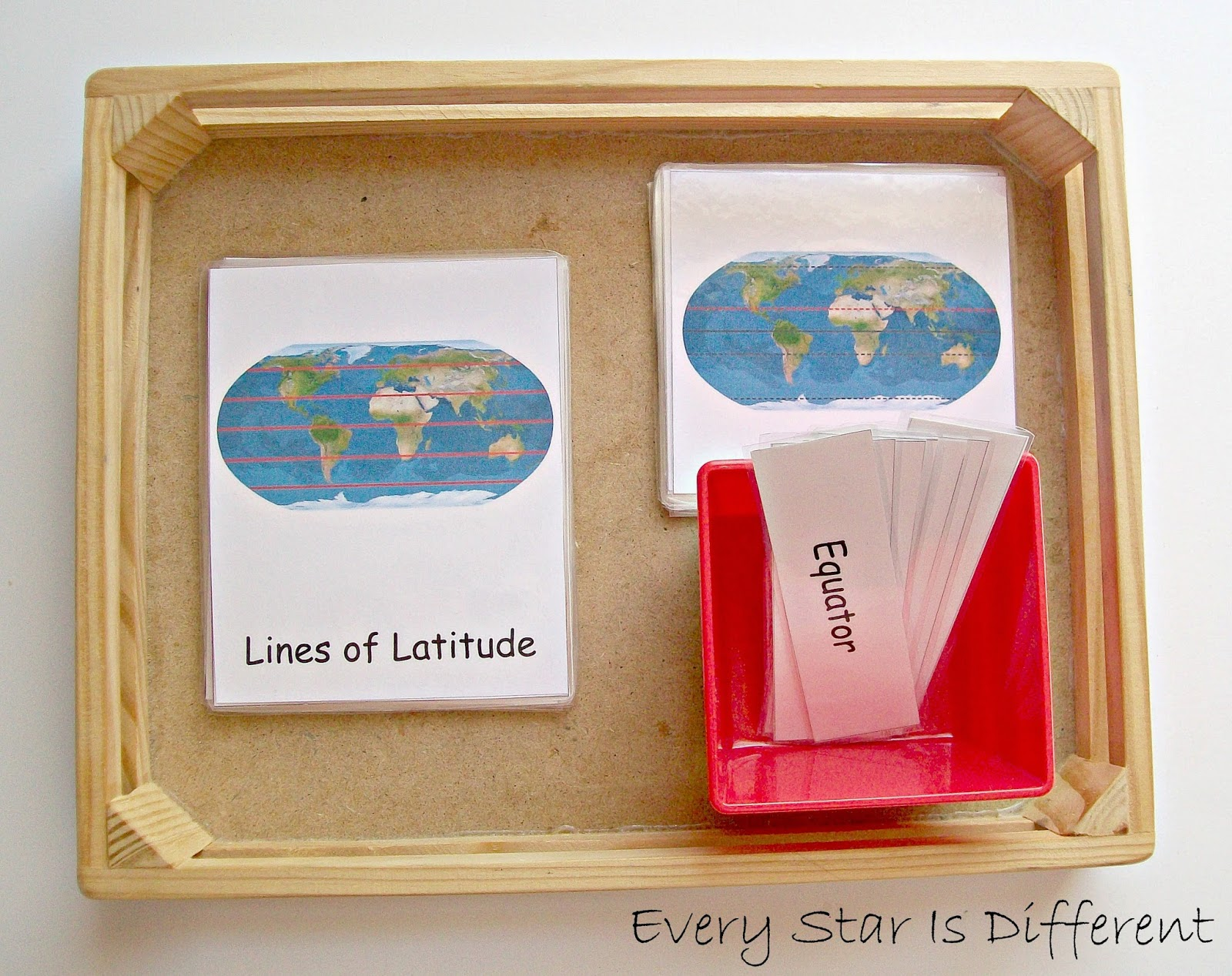 Lines of Latitude and Longitude Nomenclature Cards