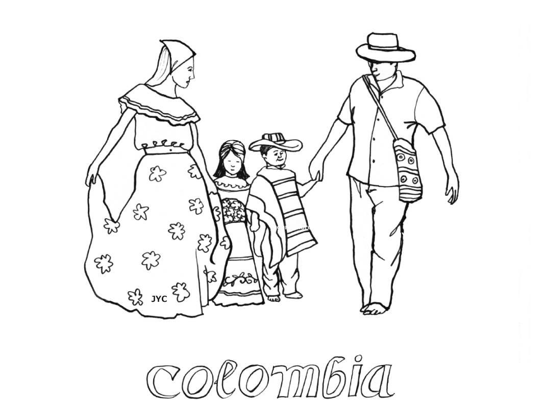 Colombia Drawings To Color Child Coloring