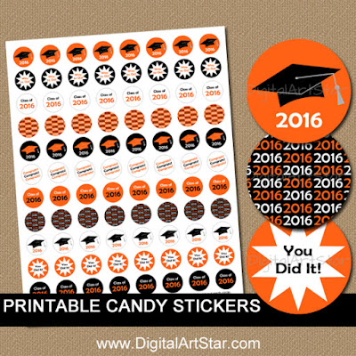 graduation party favors candy stickers