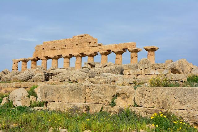 Restes du temple C - Sélinonte