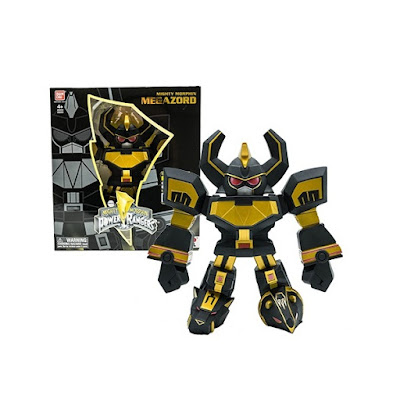 San Diego Comic-Con 2017 Exclusive Mighty Morphin Power Rangers Black & Gold Megazord Tokyo Vinyl Figure by Touma x Bandai